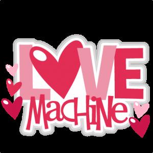 Love Machine scrapbook titles SVG cutting files robot cut files for scrapbooking clip art clipart doodle cut files for cricut free svg cuts