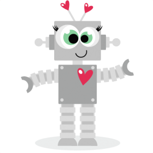 Love Robot scrapbook titles SVG cutting files robot cut files for scrapbooking clip art clipart doodle cut files for cricut free svg cuts