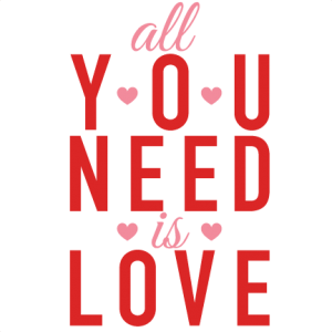 All You Need Is Love Valentine Subway Art scrapbook cuts SVG cutting files cut files for scrapbooking clip art clipart doodle cut files for cricut free svg cuts