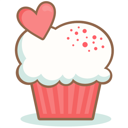 valentine cupcake scrapbook cuts svg cutting files doodle