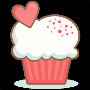 Valentine Cupcake scrapbook cuts SVG cutting files doodle cut files for scrapbooking clip art clipart doodle cut files for cricut free svg cuts
