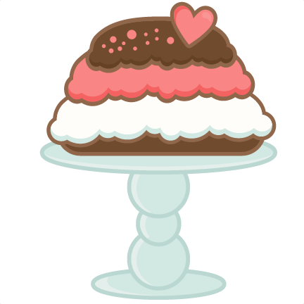 Valentine Cake Clip Art : Valentine cake scrapbook cuts SVG cutting files doodle cut ...
