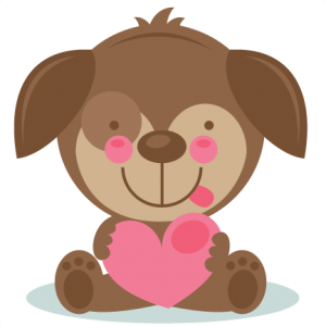 Cute Valentine Puppy scrapbook cuts SVG cutting files doodle cut files for scrapbooking clip art clipart doodle cut files for cricut free svg cuts