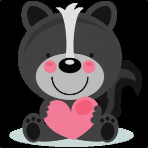 Cute Valentine Skunk scrapbook cuts SVG cutting files doodle cut files for scrapbooking clip art clipart doodle cut files for cricut free svg cuts