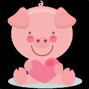 Cute Valentine Pig  scrapbook cuts SVG cutting files doodle cut files for scrapbooking clip art clipart doodle cut files for cricut free svg cuts