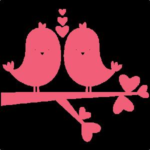Birds In Love scrapbook titles SVG cutting files robot cut files for scrapbooking clip art clipart doodle cut files for cricut free svg cuts