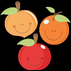 Cute Fruit peach apple orange scrapbook cuts SVG cutting files doodle cut files for scrapbooking clip art clipart doodle cut files for cricut free svg cuts