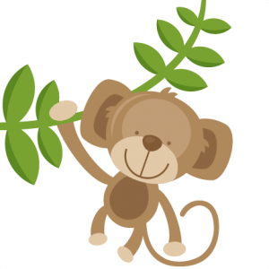 Hanging Monkey SVG cut files for scrapbooking silhouette cut files svgs for cricut free svgs cute clipart clip art