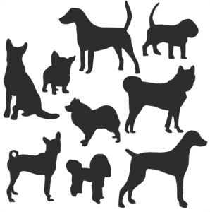 Dog Silhouette Set SVG scrapbook title cat svg cut files kitten svg cut files free svgs free svg cuts