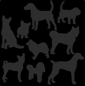 Dog Silhouette Set SVG scrapbook title cat svg cut files kitten svg cut files free svgs free svg cuts