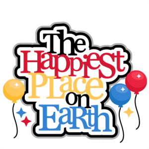 The Happiest Place On Earth title  SVG cut files for scrapbooking silhouette cut files svgs for cricut free svgs cute clipart clip art