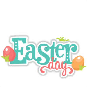 Easter Day scrapbook title cuts SVG cutting files doodle cut files for scrapbooking clip art clipart doodle cut files for cricut free svg cuts