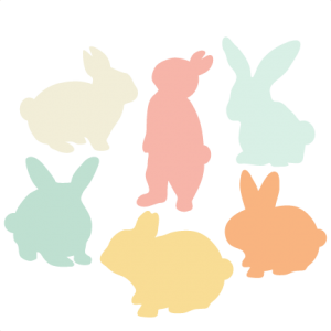 Bunny Silhouette Set SVG scrapbook title cat svg cut files kitten svg cut files free svgs free svg cuts