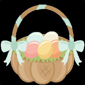 Easter Basket scrapbook cuts SVG cutting files doodle cut files for scrapbooking clip art clipart doodle cut files for cricut free svg cuts