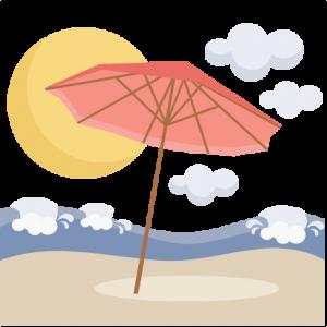 Beach Umbrella Scene SVG scrapbook cut file cute clipart files for silhouette cricut pazzles free svgs free svg cuts cute cut files