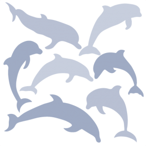 dolphin silhouette set