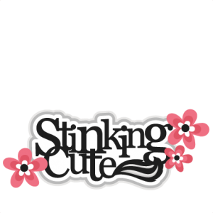 Stinking Cute Title Skunk SVG scrapbook cut file cute clipart files for silhouette cricut pazzles free svgs free svg cuts cute cut files