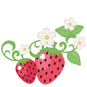 Strawberries With Flowers clip art SVG scrapbook cut file cute clipart files for silhouette cricut pazzles free svgs free svg cuts cute cut files