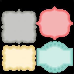 Layered Label Set SVG scrapbook cut file cute clipart files for silhouette cricut pazzles free svgs free svg cuts cute cut files