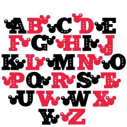 Download Mouse Uppercase Alphabet SVG scrapbook cut file cute ...