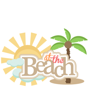 At the Beach Title SVG cut files for scrapbooking silhouette cut files svgs for cricut free svgs cute clipart clip art