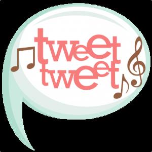 Tweet Tweet Title SVG scrapbook cut file cute clipart files for silhouette cricut pazzles free svgs free svg cuts cute cut files