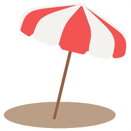 beach umbrella svg scrapbook cut file cute clipart files for