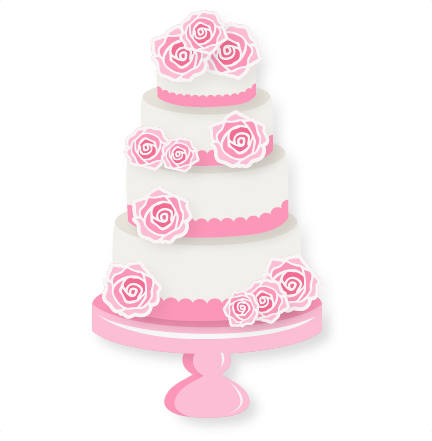 Wedding Cake SVG scrapbook cut file cute clipart files for