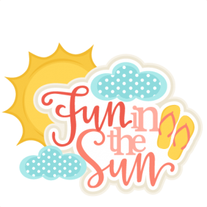 Fun in the Sun Title SVG scrapbook cut file cute clipart clip art files for silhouette cricut pazzles free svgs free svg cuts cute cut files