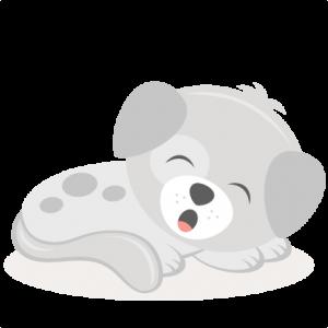 Tired Puppy SVG scrapbook cut file cute clipart files for silhouette cricut pazzles free svgs free svg cuts cute cut files