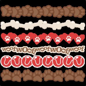 Dog Borders SVG scrapbook cut file cute clipart files for silhouette cricut pazzles free svgs free svg cuts cute cut files