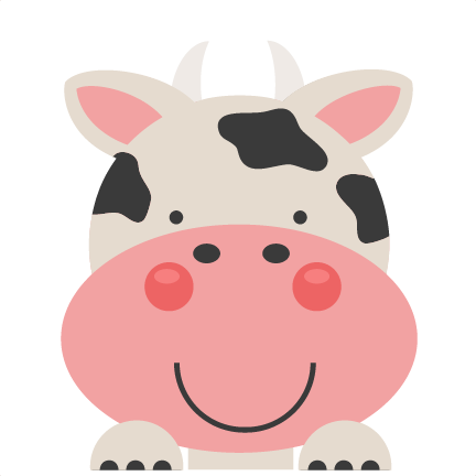 Peeking Cow SVG scrapbook cut file cute clipart files for ...