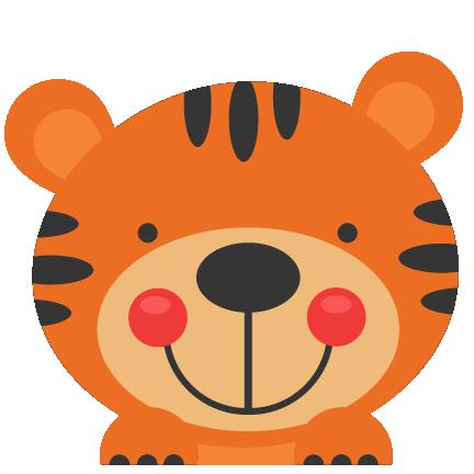 Peeking Tiger Svg Scrapbook Cut File Cute Clipart Files For