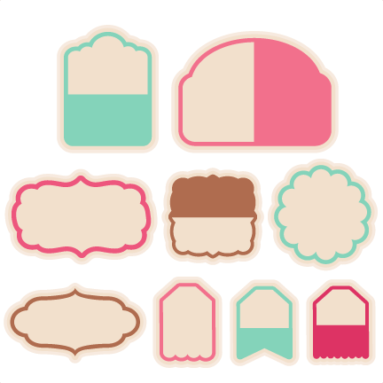 Tag Set SVG scrapbook cut file cute clipart files for silhouette