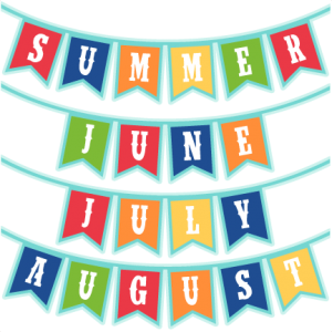 Summer Months Banners SVG scrapbook cut file cute clipart files for silhouette cricut pazzles free svgs free svg cuts cute cut files