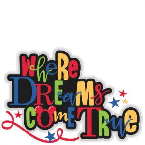Where Dreams Come True Title SVG scrapbook cut file cute clipart files for silhouette cricut pazzles free svgs free svg cuts cute cut files