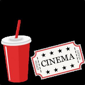 Movie Ticket and Soda SVG scrapbook cut file cute clipart files for silhouette cricut pazzles free svgs free svg cuts cute cut files