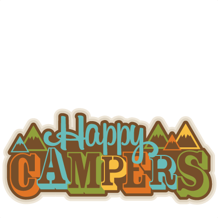 Happy Campers Title SVG Scrapbook Cut File Cute Clipart Files For Silhouette Cricut Pazzles Free Svgs Svg Cuts