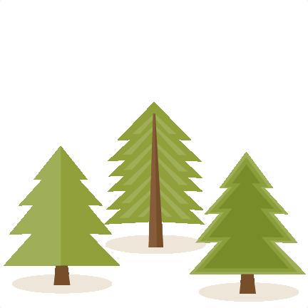 Pine tree cute. Set svg scrapbook cut