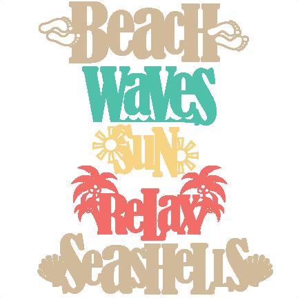 Download Beach Word Titles SVG scrapbook cut file cute clipart ...