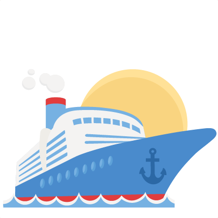 cruise ship svg scrapbook cut file cute clipart files for
