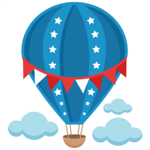 Patriotic Hot Air Balloon SVG scrapbook cut file cute clipart files for silhouette cricut pazzles free svgs free svg cuts cute cut files