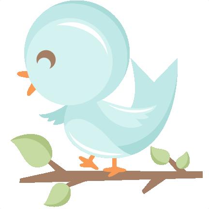 Cute Bird in Tree SVG scrapbook cut file cute clipart ...