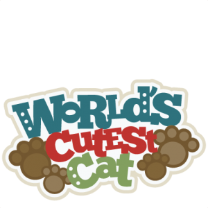 World's Cutest Cat Title SVG scrapbook cut file cute clipart files for silhouette cricut pazzles free svgs free svg cuts cute cut files