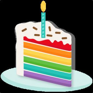 Rainbow Piece of Cake SVG scrapbook cut file cute clipart files for silhouette cricut pazzles free svgs free svg cuts cute cut files
