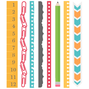 School Borders Set SVG scrapbook cut file cute clipart files for silhouette cricut pazzles free svgs free svg cuts cute cut files