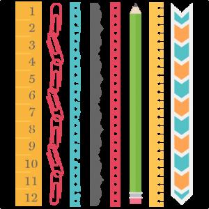 School Borders Set SVG scrapbook cut file cute clipart files for silhouette cricut pazzles free svgs free svg cuts cute cut files