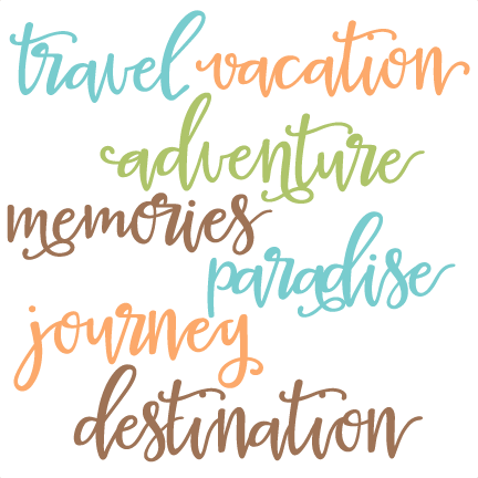Travel Words Set SVG scrapbook cut file cute clipart files ...