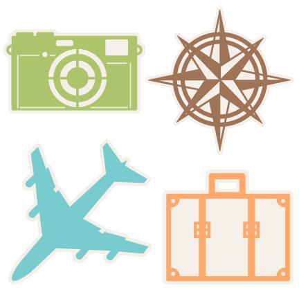 Travel Icons Set Svg Scrapbook Cut File Cute Clipart Files