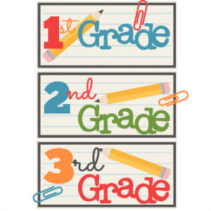 1st 2nd 3rd Grade Titles SVG scrapbook cut file cute clipart files for silhouette cricut pazzles free svgs free svg cuts cute cut files